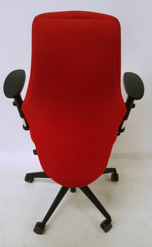 A Pair Of LIMA Branded Premium Adjustable Office Chairs Featuring Fixed Lumbar Support And Arm Rests - Image 3 of 7