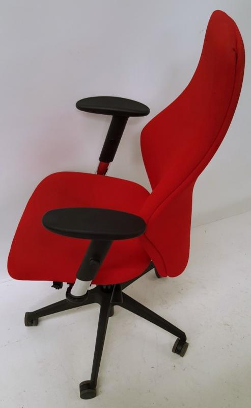 A Pair Of LIMA Branded Premium Adjustable Office Chairs Featuring Fixed Lumbar Support And Arm Rests - Image 6 of 7