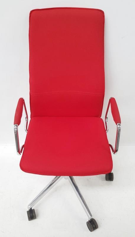 1 x 'Sven Christiansen' Premium Designer High-back Office Chair In Red (HBB1HA) - Used, In Very Good