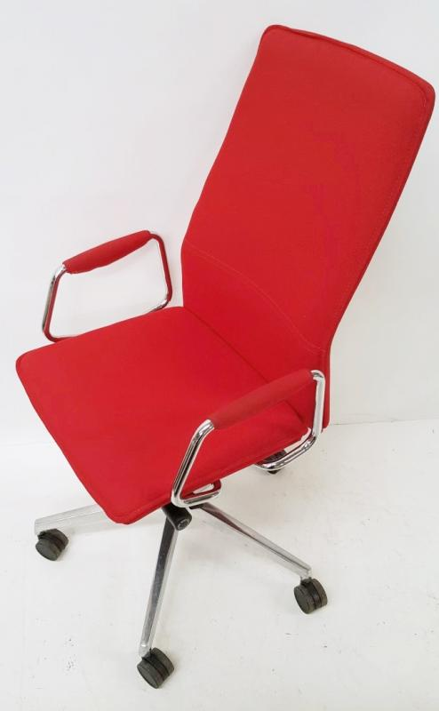 1 x 'Sven Christiansen' Premium Designer High-back Office Chair In Red (HBB1HA) - Used, In Very Good - Image 7 of 7