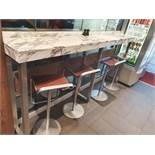 1 x White Marble/Granite Breakfast / Coffee Bar - Two Piece - From A Milan-style City Centre Cafe