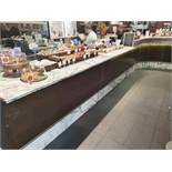 1 x Front Bar Area With Marbled Counter Top And Built-In 2-Door Undercounter Chiller