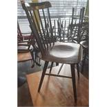 6 x Wooden Spindle Back Dining Chairs - Recently Taken From A Contemporary Caribbean Restaurant & Lo