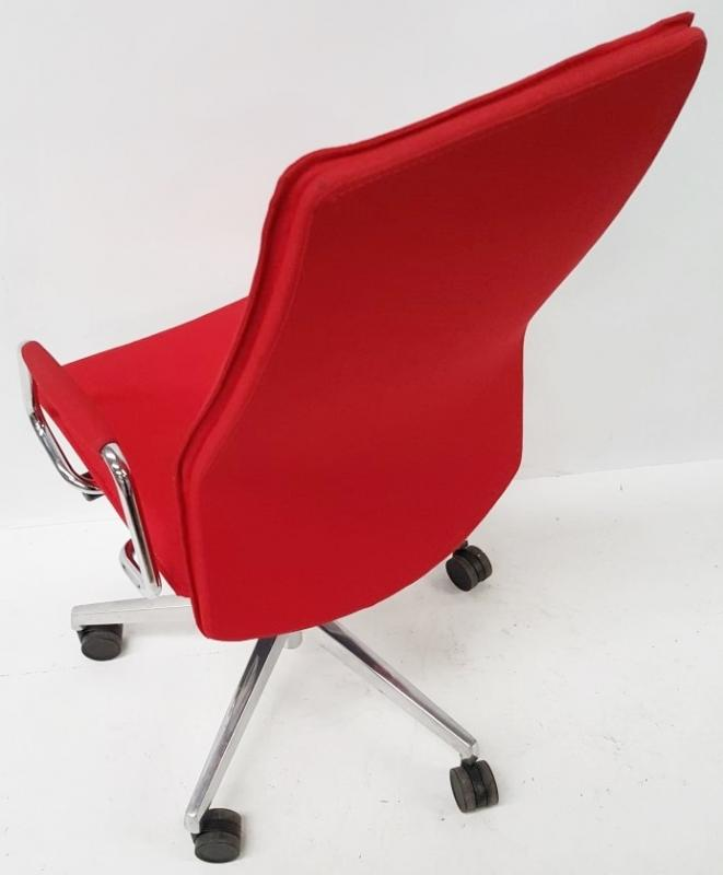 1 x 'Sven Christiansen' Premium Designer High-back Office Chair In Red (HBB1HA) - Used, In Very Good - Image 2 of 7
