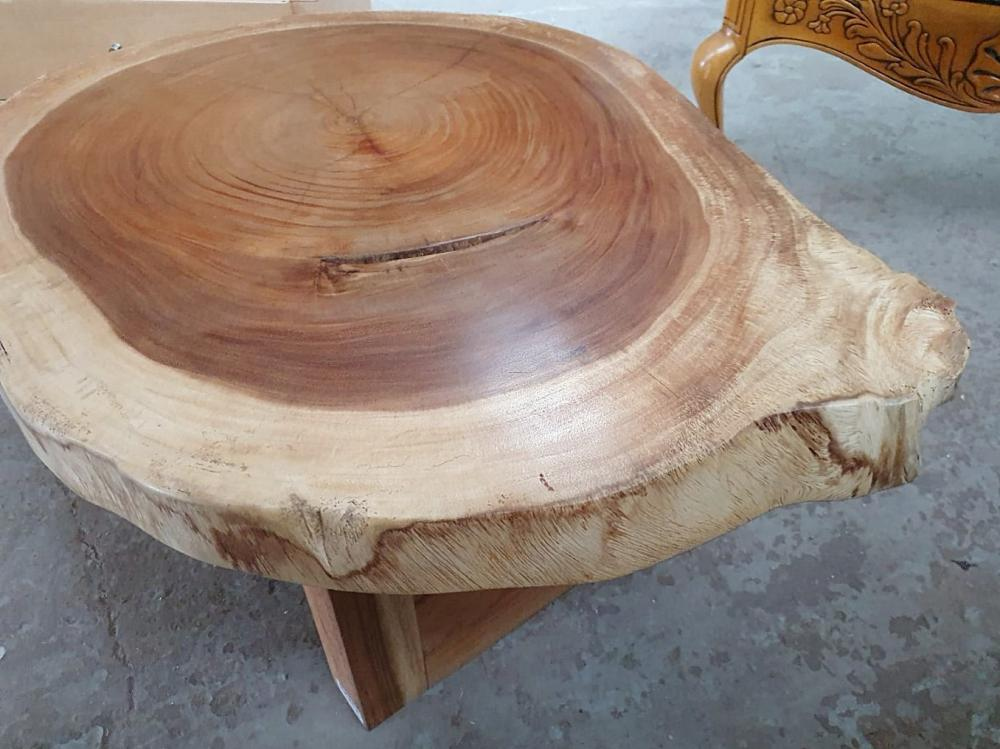 1 x Unique Reclaimed Solid Tree Trunk Coffee Table With Square Base - Dimensions (approx): Height 45 - Bild 2 aus 3