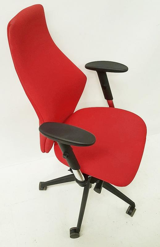 A Pair Of LIMA Branded Premium Adjustable Office Chairs Featuring Fixed Lumbar Support And Arm Rests - Image 4 of 7