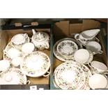"""Two boxes of Wedgewood Tea & part Dinner service in """"Hathaway Rose"""" pattern"""