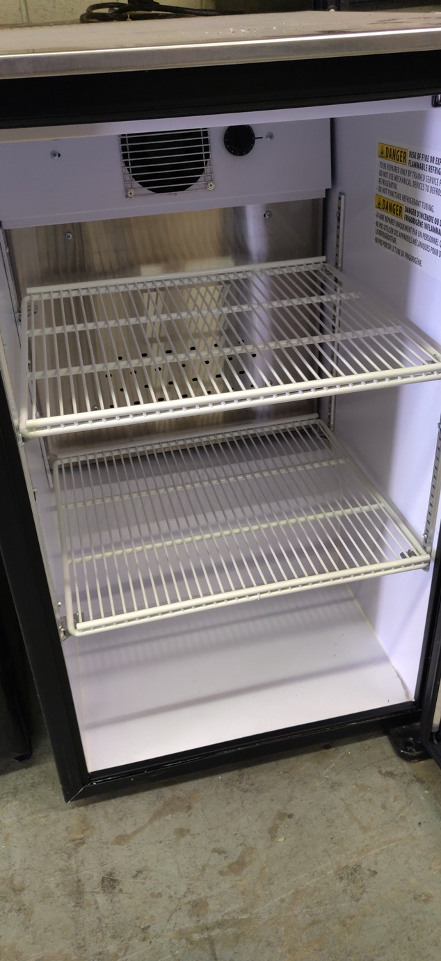 "Lot 525 - IMBERA MINI GLASS DOOR FRIDGE 34"" X 22"""