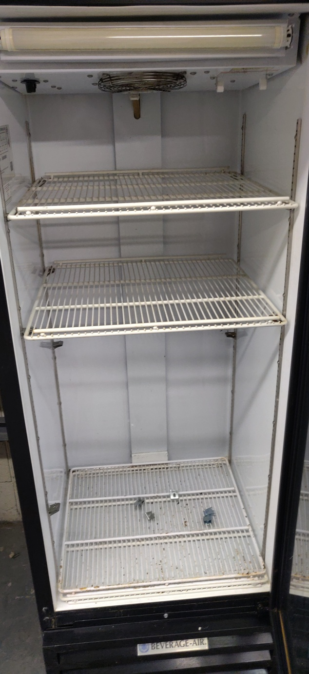 "Lot 534 - BEVERAGE AIR FRIDGE 63"" X 25"""