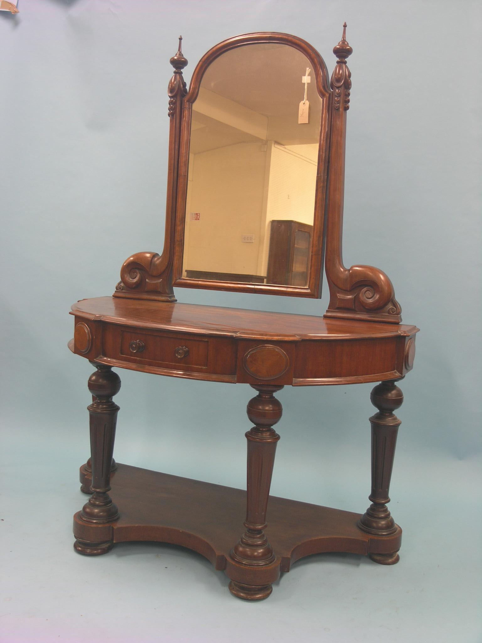 Victorian dressing table - Lot 88 A Victorian Mahogany Dressing Table Duchess Type With Raised Adjustable