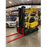 HYSTER J40XN ELECTRIC FORKLIFT, TILT, SIDESHIFT, AUXILIARY HYDRAULICS, CUSHION TIRES, RUNS AND OPERA