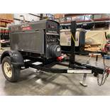 2014 LINCOLN ELECTRIC CLASSIC 300 HE WELDER/GENERATOR, TRAILER MOUNTED, KUBOTA DIESEL, RUNS AND OPER