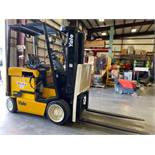 YALE ERC050 ELECTRIC FORKLIFT, TILT, SIDESHIFT, CUSHION TIRES, RUNS AND OPERATES