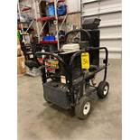 HIGH POWER HONDA GAS POWERED, DIESEL HEATED PRESSURE WASHER, NEW PUMP, WAND, RUNS AND OPERATES, NO H