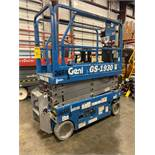 2017 GENIE GS-1930 ELECTRIC SCISSOR LIFT, SELF PROPELLED, 19' PLATFORM HEIGHT, 500 LB CAPACITY, SLID
