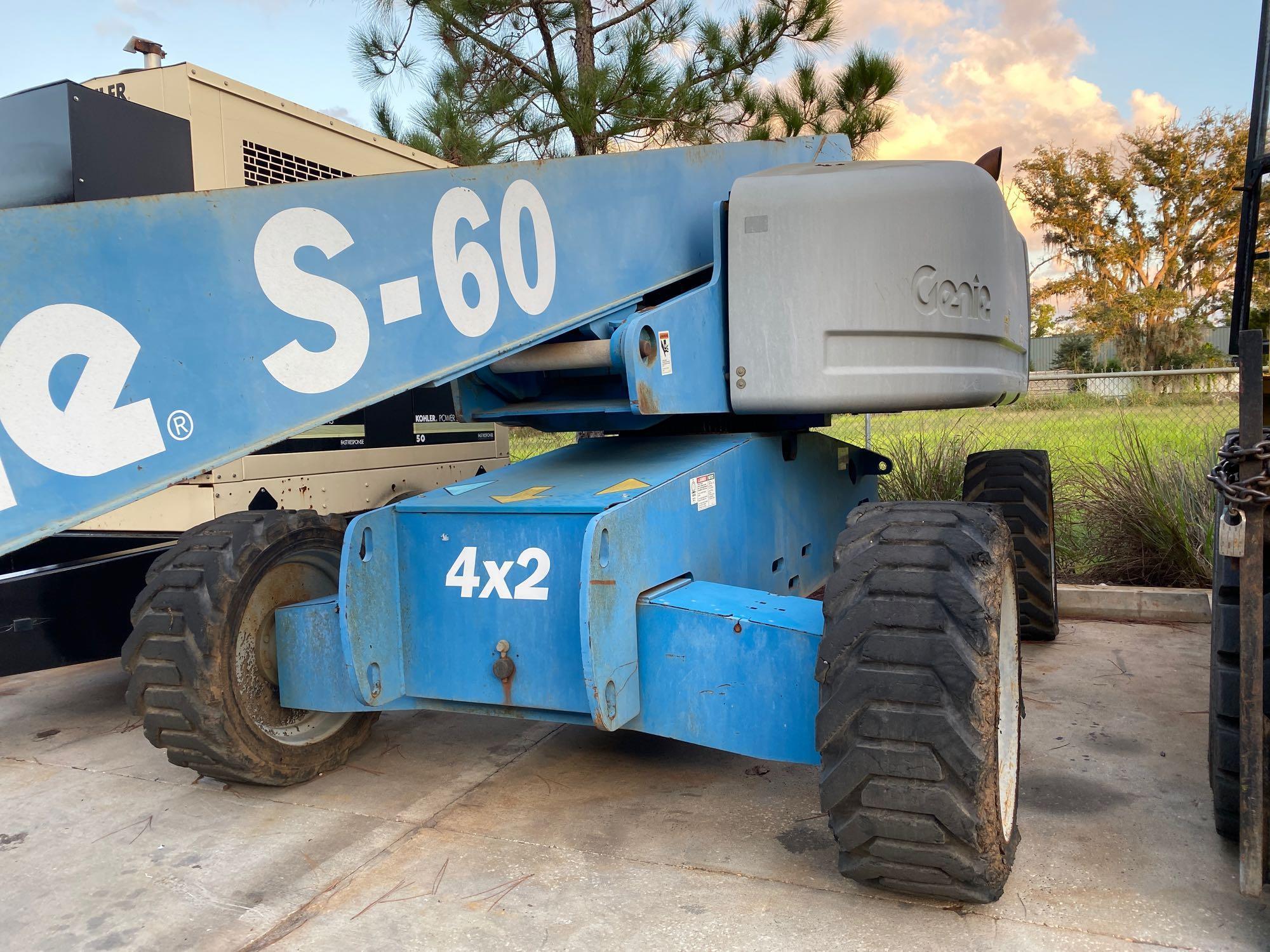 Lot 18A - GENIE S-60 DIESEL BOOM LIFT