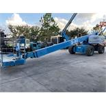 GENIE S-80 DIESEL BOOM LIFT, 4x4, EXTENDABLE/ SLIDE OUT WHEELS, 80' PLATFORM HEIGHT, RUNS & OPERATES