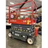 2018 SKYJACK SJIII 3319 ELECTRIC SCISSOR LIFT, SELF PROPELLED, 19' PLATFORM HEIGHT, EXTENDABLE PLATF