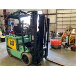MITSUBISHI FBC20K ELECTRIC FORKLIFT, TILT, SIDSHIFT, NON MARKING TIRES, RUNS AND OPERATES