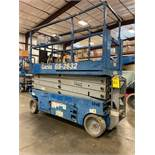 2013 GENIE GS-2632 ELECTRIC SELF PROPELLED SCISSOR LIFT, SLIDE OUT PLATFORM, 26' PLATFORM HEIGHT, 50