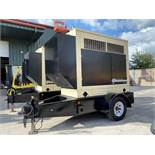 KOHLER 55KW TRAILER MOUNTER DIESEL GENERATOR, JOHN DEERE ENGINE, RUNS AND OPERATES