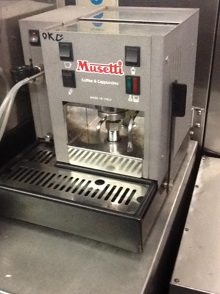 Musetti coffee machine tested no vat for Musetti coffee