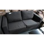 3 Seater Charcoal Sofa. Customer Returns