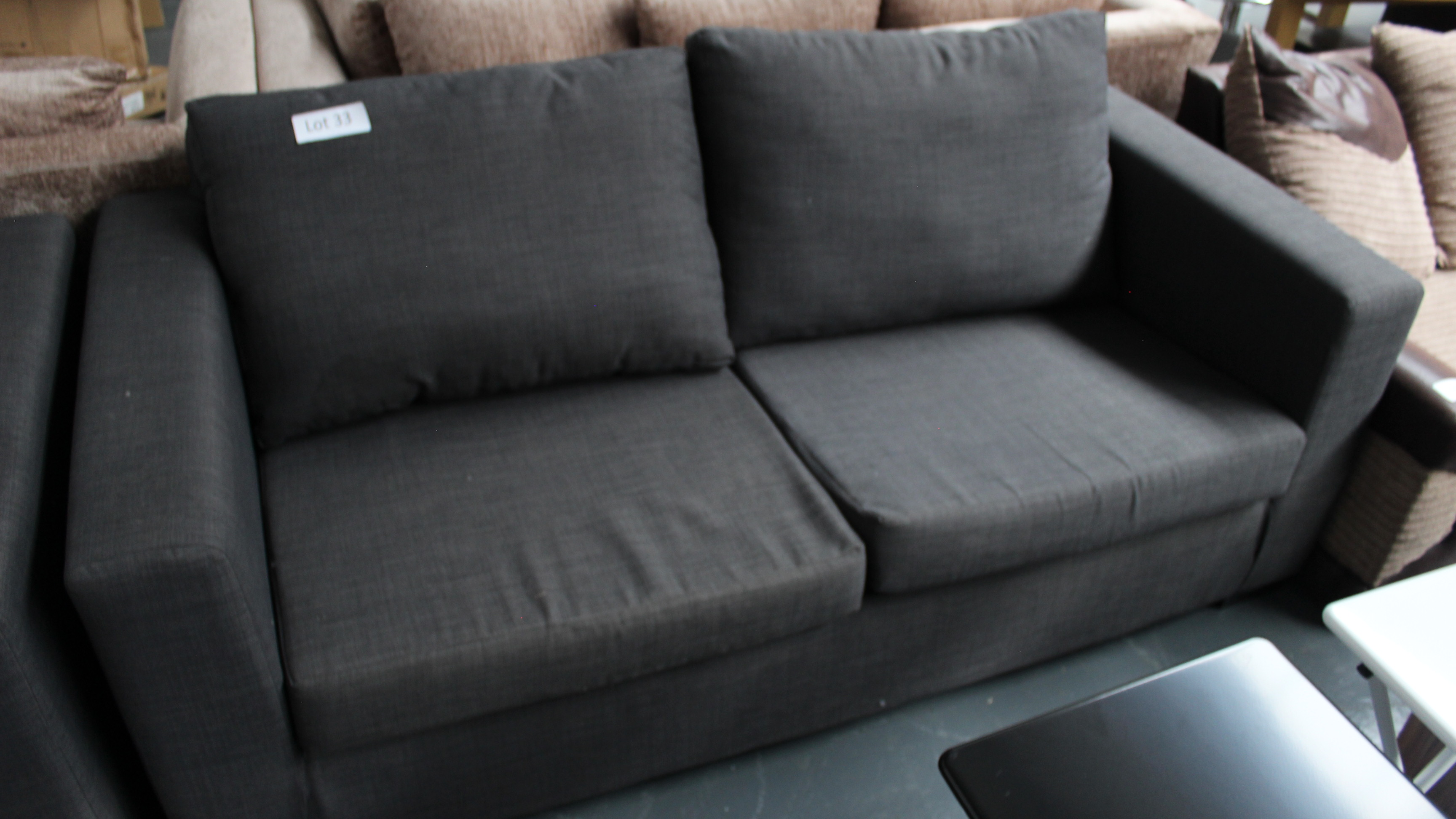 Lot 33 - 3 Seater Charcoal Sofa. Customer Returns