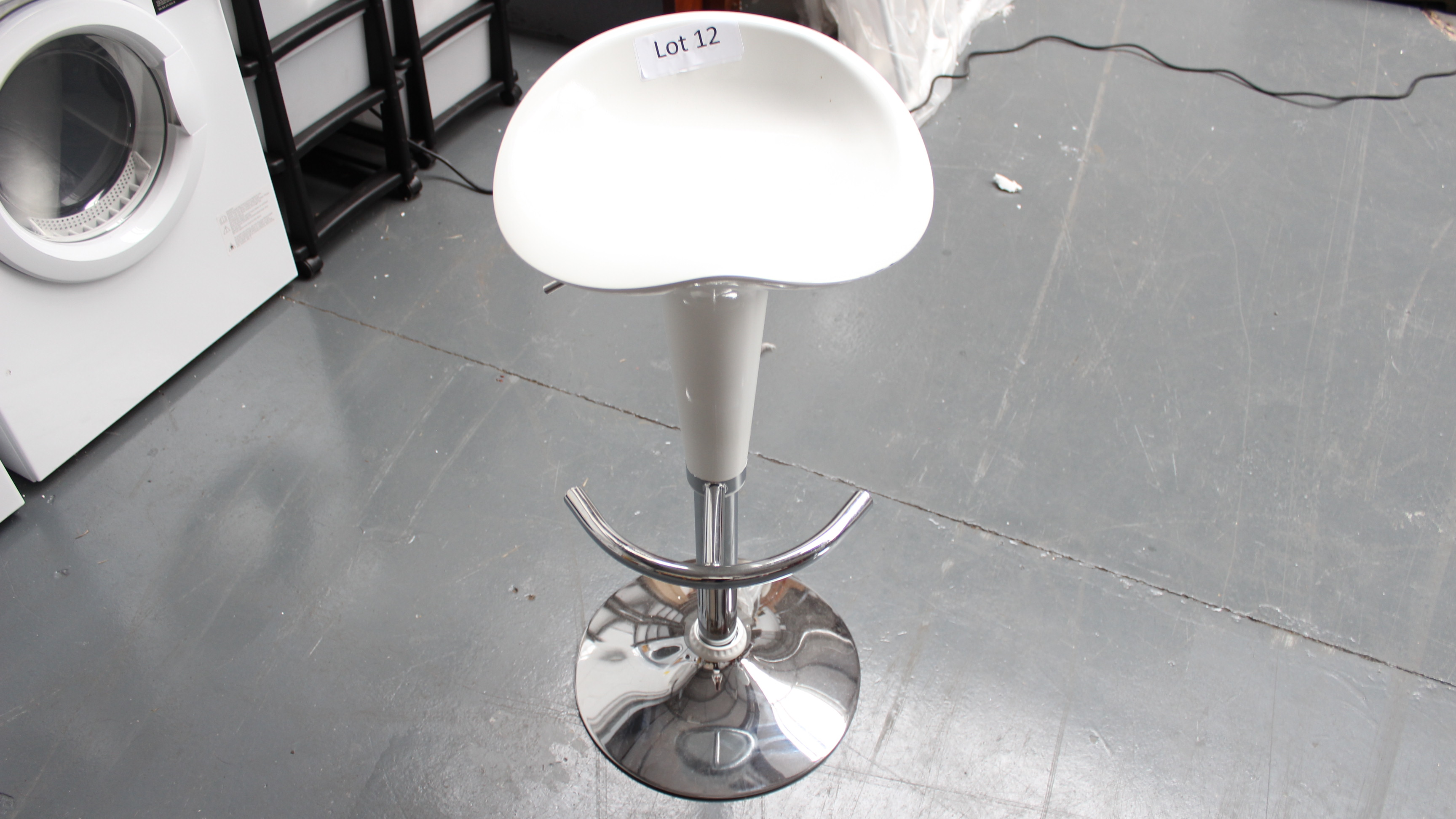 Lot 12 - White Bar Stool Customer Returns
