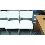2 White & Chrome Chairs New