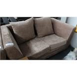2 Seater Mink sofa Customer Returns