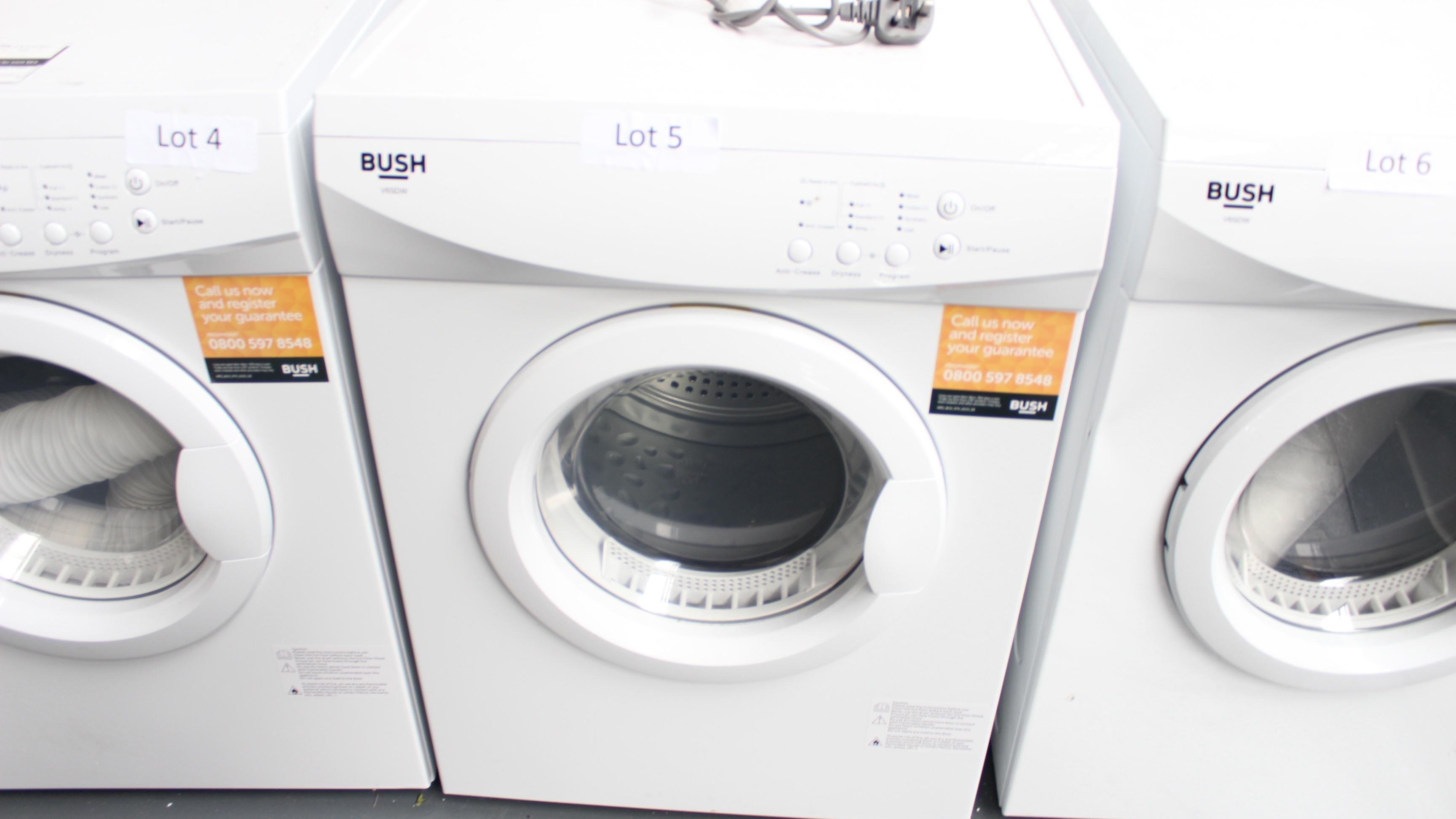 Lot 5 - Bush V6SDW Tumble Dryer Customer Returns