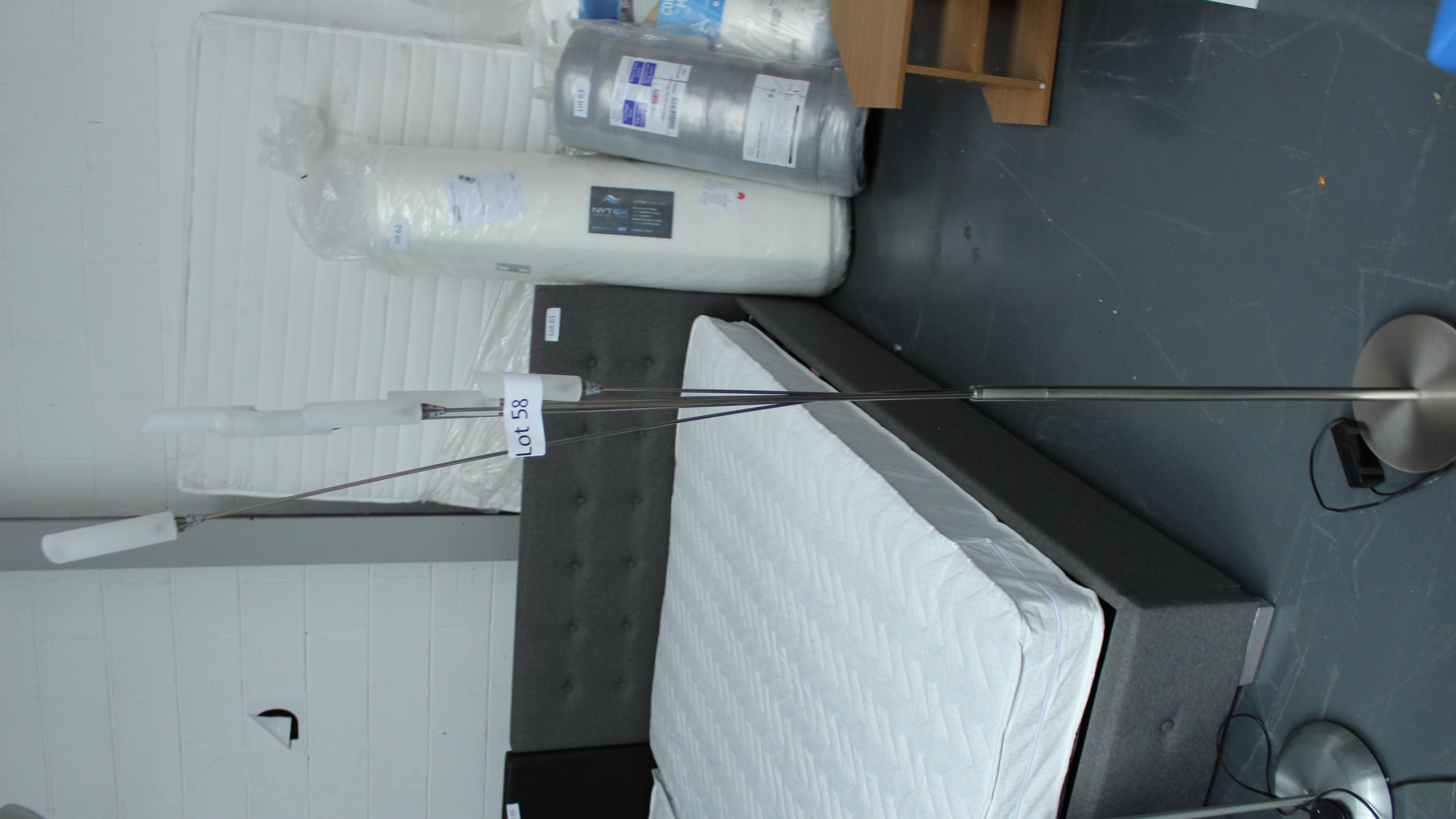 Lot 58 - Floor Lamp with Glass Shades. Customer Returns