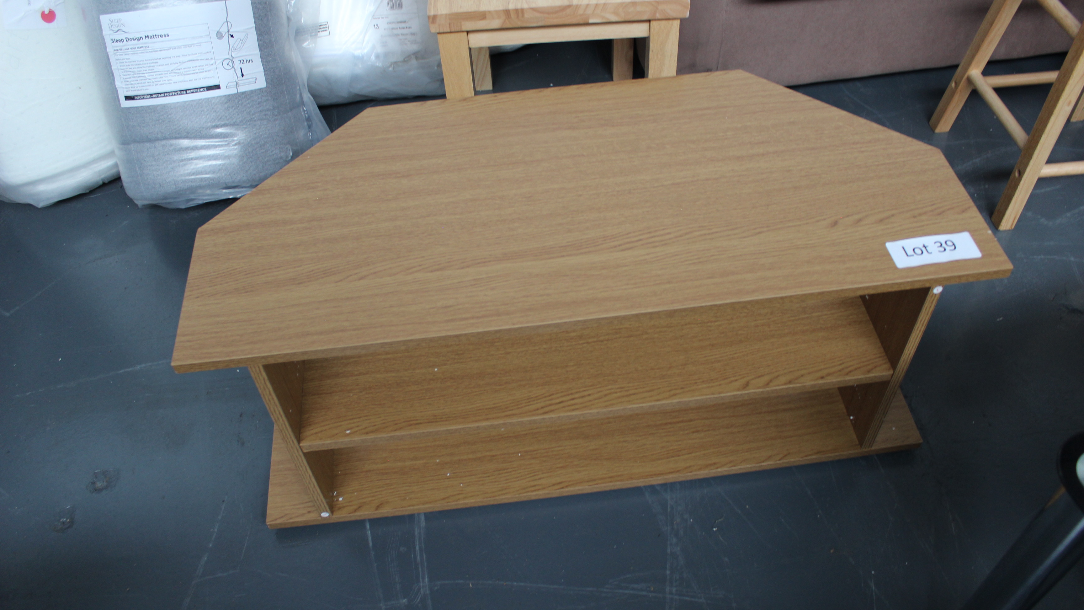 Lot 39 - Wooden TV Unit. Customer Returns