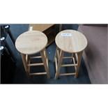 2 Mini Wooden Bar Stools. Customer Returns