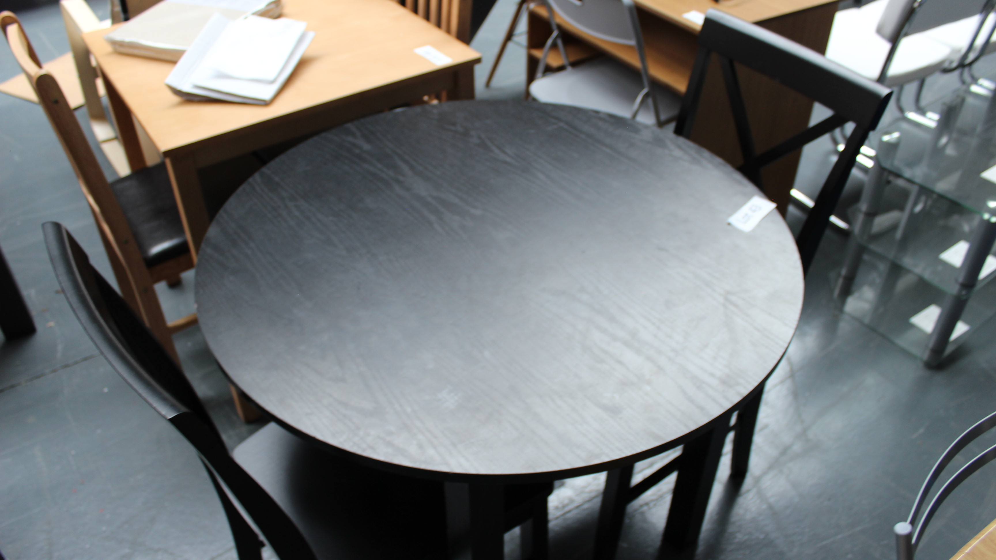 Lot 43 - Black Dining Table & 4 Chairs. Customer Returns
