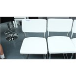 2 White & Chrome Chairs. New