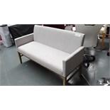 Light Gray & Wood Sofa. New