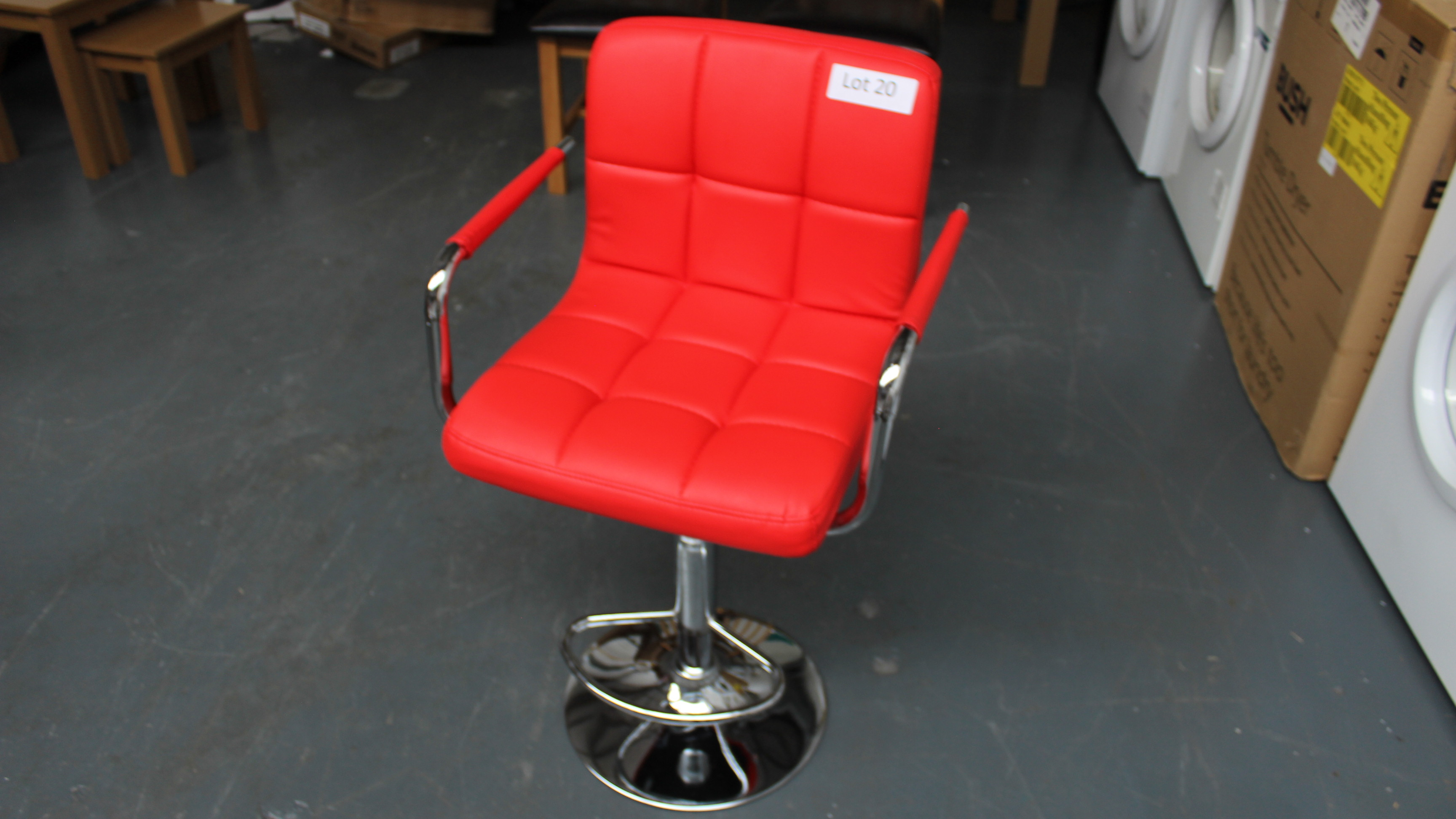 Lot 20 - Red Bar Stool. New