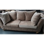 3 Seater Mink Sofa Customer Returns