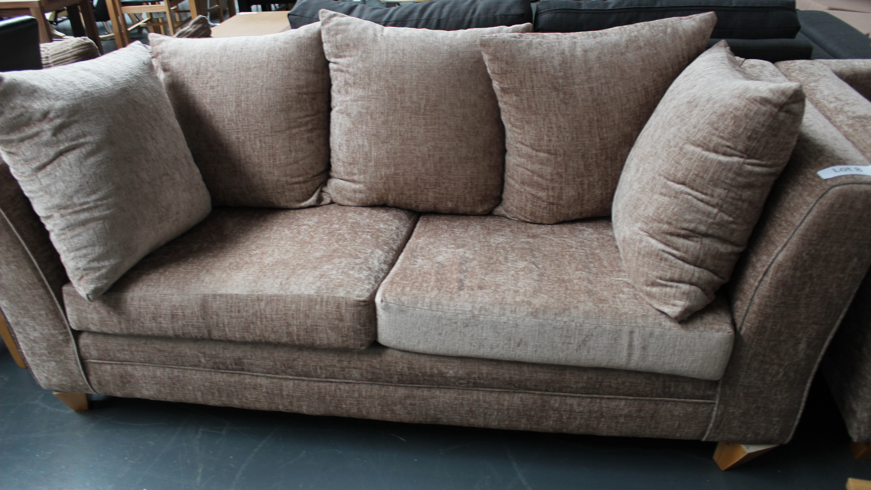 Lot 8 - 3 Seater Mink Sofa Customer Returns