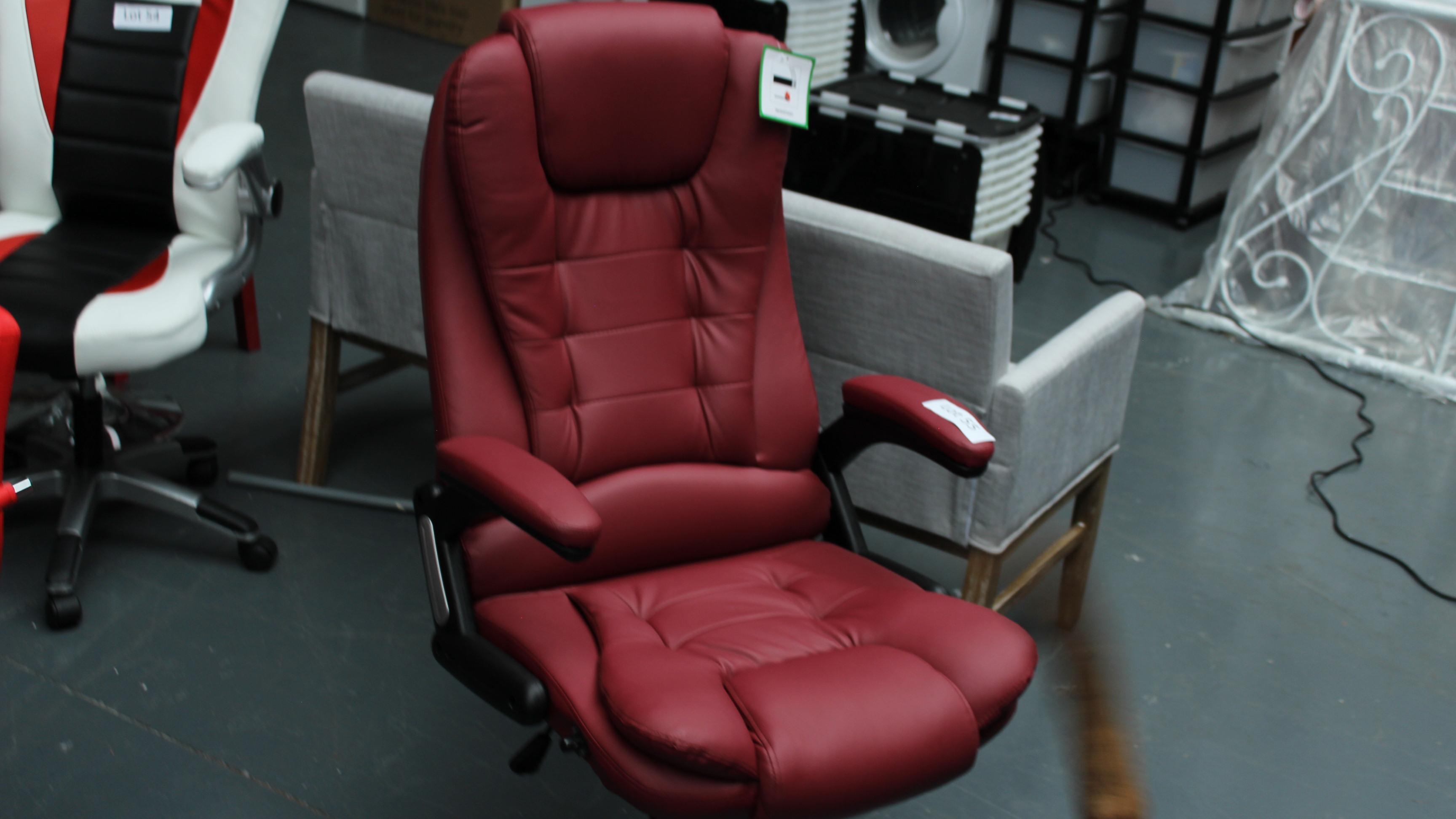 Lot 55 - Executive Chair Burgundy. New