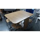 Folding Storage Table & 4 Chairs. Customer Returns