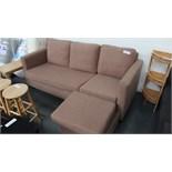 3 Seater Tan Sofa. Customer Returns