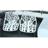 2 White Designer Style Chairs. New