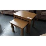 Nest of 2 Wooden Tables Customer Returns