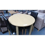 Wooden Dining Table & 2 Faux Leather Chairs Customer Returns