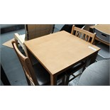 Wooden Dining Table & 2 Chairs. Customer Returns
