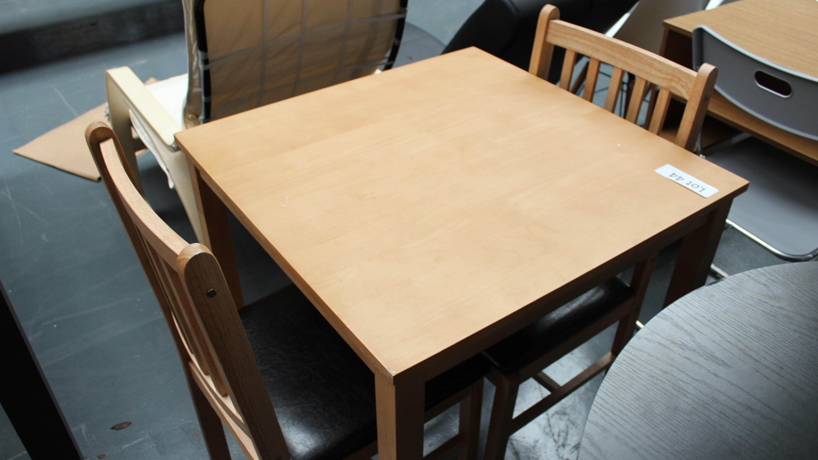 Lot 44 - Wooden Dining Table & 2 Chairs. Customer Returns