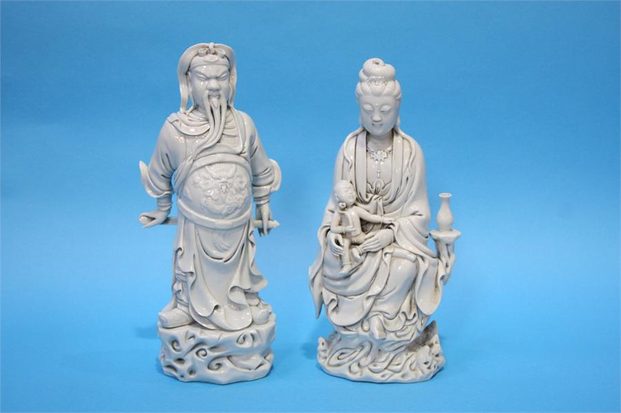 Lot 1 - Two Blanc de Chine figures.